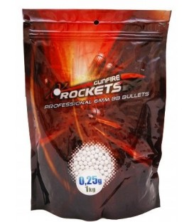 Kulki ROCKETS Professional 6mm 0,25g 1kg