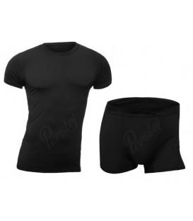 Bielizna termoaktywna Koszulka+Szorty CZARNA