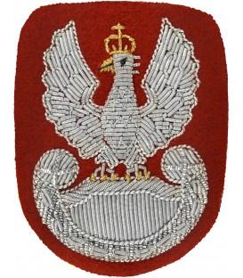Orzełek na beret wyszywany bajorkiem ZIELONY