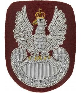 Orzełek na beret wyszywany bajorkiem SZKARŁATNY