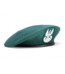 Beret wojskowy zielony z orłem