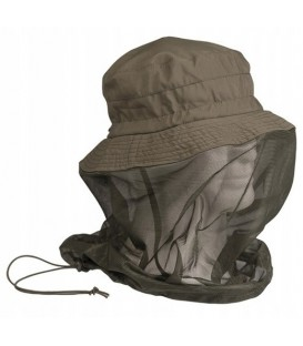 Kapelusz regulowany z moskitierą OLIVE