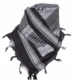 Arafatka Chusta SHEMAGH CZARNO-BIAŁA MT