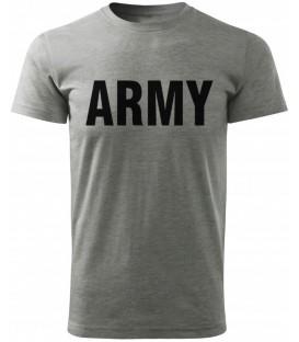 T-SHIRT koszulka ARMY SZARA