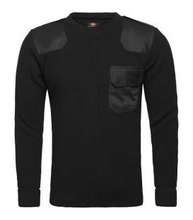 Sweter Mundurowy CZARNY