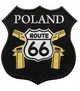 Naszywka motocyklowa ROUTE 66 Poland 13,5 x 14 cm