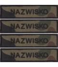ZESTAW Imiennik nazwisko Wojskowe na mundur US-22 x 4 szt