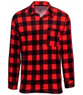 Koszula Flanelowa w kratę CZERWONA