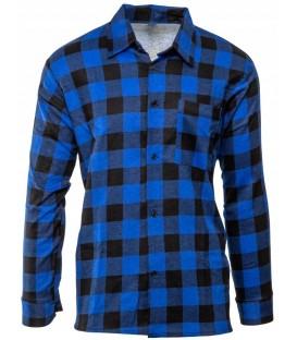 Koszula Flanelowa w kratę NIEBIESKA